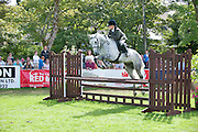 Christine Molloy on board Doire Mhainigh Earl in the registered Connemara Pony aged 4 & over ridden by a person over 16  at the 90th Connemara Pony show in Clifden Co. Galway. Photo:Andrew Downes