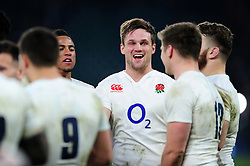 Jack Clifford of England is all smiles after the match - Mandatory byline: Patrick Khachfe/JMP - 07966 386802 - 12/03/2016 - RUGBY UNION - Twickenham Stadium - London, England - England v Wales - RBS Six Nations.