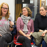 Emma Sams, Mieke McMahon and Bonny Boyle, all volunteers from the start of fishbowl