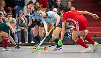 HAMBURG  (Ger) - Match 20,  for FINAL, LMHC Laren - Dinamo Elektrostal (Rus)  Photo: Klaartje de Bruijn (Laren)  Eurohockey Indoor Club Cup 2019 Women . WORLDSPORTPICS COPYRIGHT  KOEN SUYK