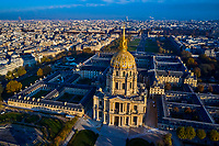 France, Paris (75), zone classée Patrimoine Mondial de l'UNESCO, l'Hôtel des Invalides et la cathédrale Saint-Louis-des-Invalides // France, Paris, Invalides, Saint-Louis-des-Invalides Cathedral