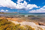 Chrisi Akti, Paros, Greece - July 2021: Wild Beach