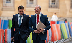 Simon Coveney, Deputy Prime Minister of Ireland, Minister for Foreign Affairs and Trade, responsibility for BREXIT in Irish Government. arrives at the BBC before appearing on the Andrew Marr show as a guest.<br /> <br /> Richard Hancox   EEm 21072019