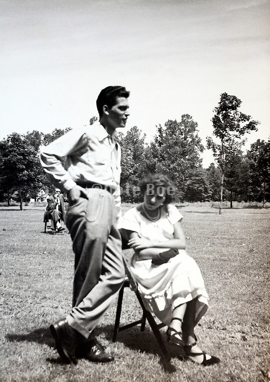 employees on a sports recreational day USA 1940s