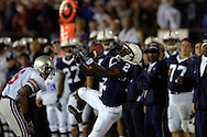 Penn State's Derrick Williams reaches for a pass against the Buckeyes.