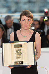 Director Leonor Serraille winner of the Camera d'Or for best first film for 'Jeune femme' (Montparnasse-Bienvenue) attend the Palme D'Or winner photocall during the 70th annual Cannes Film Festival held at the Palais Des Festivals in Cannes, France on May 28, 2017 as part of the 70th Cannes Film Festival. Photo by Nicolas Genin/ABACAPRESS.COM