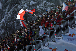 Fans at Normal Hill Individual Ski jumps at FIS Nordic World Ski Championships Liberec 2008, on February 21, 2009, in Jested, Liberec, Czech Republic. (Photo by Vid Ponikvar / Sportida)