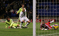 Photo: Paul Thomas/Sportsbeat Images.<br /> Bolton Wanderers v Aris Salonica. UEFA Cup. 29/11/2007.<br /> <br /> Stelios of Bolton scores.