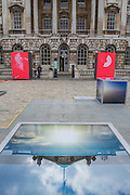 Specially commissioned for Photo London, an installation by Rut Blees Luxemburg in the courtyard of Somerset House, London. The piece involes 10 lightbox cubes and framed lights which show 'an urban love story overlaid with text by philosopher Alexander Garcia Duttmann'. The inaugural edition of Photo London - London's first international photography fair, it aims to harness the growing audience for photography in the city and nurture a new generation of collectors. Photo London is produced by the consultancy and curatorial organisation Candlestar, known for their work with Condé Nast and the Prix Pictet photography award and touring exhibition. Photo London's public programme is supported by the LUMA Foundation.