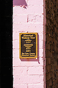 Interpretive plaque on the historical walking tour, Silverton, Colorado USA