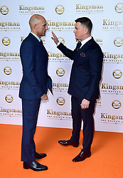 Mark Strong and Channing Tatum attending the World Premiere of Kingsman: The Golden Circle, at Cineworld in Leicester Square, London. Picture Date: Monday 18 September. Photo credit should read: Ian West/PA Wire
