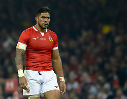 Alaska Taufa of Tonga<br /> <br /> Photographer Simon King/Replay Images<br /> <br /> Under Armour Series - Wales v Tonga - Saturday 17th November 2018 - Principality Stadium - Cardiff<br /> <br /> World Copyright © Replay Images . All rights reserved. info@replayimages.co.uk - http://replayimages.co.uk