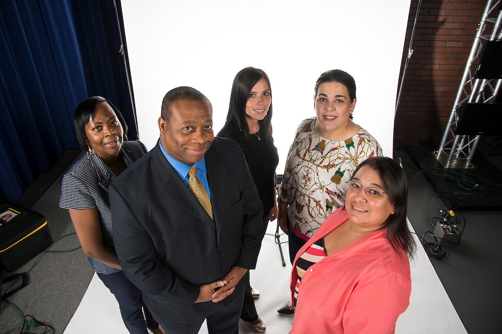 Left to right: Vanessa McGinnis, Supplier Diversity Specialist; Bernard Willingham, Supplier Diversity Team Lead; Iva Martinov, Supplier Diversity Specialist; Alexis Licata, General Manager of Business Assistance; and Tori Cortez, Analyst