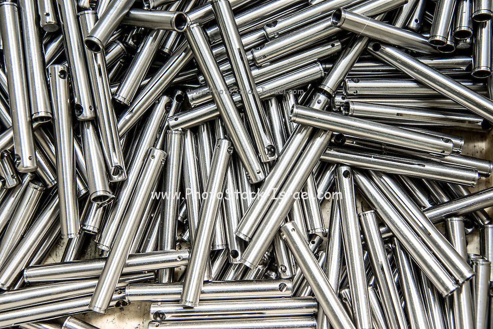metal parts produced on a metal tooling shop floor