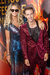 Elle Macpherson and host real estate mogul Marcel Remus attend the Remus Lifestyle party at the Llaut hotel in Palma de Mallorca, Spain, August 2, 2018. Photo by Archie Andrews/ABACAPRESS.COM