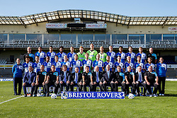 First Team Photo with additional staff - Mandatory byline: Rogan Thomson/JMP - 07966 386802 - 07/09/2015 - FOOTBALL - Memorial Stadium - Bristol, England - Bristol Rovers Team Photos.