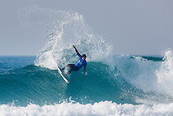 Leonardo Fioravanti of Italy finished equal 13th in the 2017 Quiksilver Pro France after placing second to former World Champion Gabriel Medina of Brazil in Heat 10 of Round Three at Hossegor, Landes, France.
