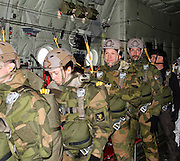 His Majesty Crown Prince Haakon Magnus of preparation before skydive with Special Forces / His Majesty Crown Prince Haakon Magnus prepares for jumping with the Norwegian Special Operations Command (NORASOC)<br /> ©Exclusivepix Media