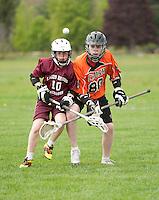 Lakes Region Lacrosse U13 boys versus Keene's Orange Crush May 11, 2012.