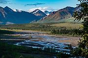 Views from Teklanika Rest Stop, Denali National Park, Alaska, USA.