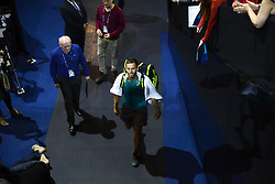 November 14, 2017 - London, England, United Kingdom - Michael Venus of New Zeland makes his way out the court after his Doubles match during Nitto ATP World Tour Finals at the O2 Arena, London on November14,  2017. (Credit Image: © Alberto Pezzali/NurPhoto via ZUMA Press)