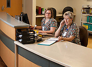 Healthcare workers on the phone