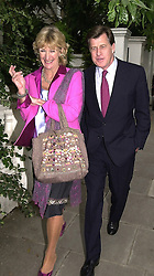 MR & MRS SIMON ELLIOT, she is the sister of Camilla Parker<br />  Bowles, at a party in London on 5th July 2000.OGB 130<br /> © Desmond O'Neill Features:- 020 8971 9600<br />    10 Victoria Mews, London.  SW18 3PY <br /> www.donfeatures.com   photos@donfeatures.com<br /> MINIMUM REPRODUCTION FEE AS AGREED.<br /> PHOTOGRAPH BY DOMINIC O'NEILL