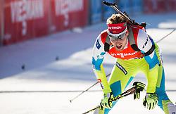 Klemen Bauer (SLO) at finish line during Men 12,5 km Pursuit at day 3 of IBU Biathlon World Cup 2015/16 Pokljuka, on December 19, 2015 in Rudno polje, Pokljuka, Slovenia. Photo by Vid Ponikvar / Sportida