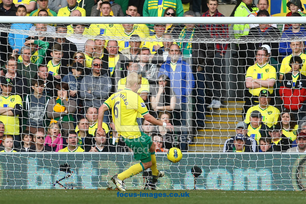 Picture by Paul Chesterton/Focus Images Ltd.  07904 640267.26/02/12.Zac Whitbread of Norwich clears off the line during the Barclays Premier League match at Carrow Road Stadium, Norwich.