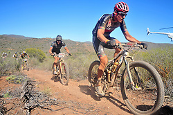 ROBERTSON, SOUTH AFRICA - MARCH 20: Czech rider Jaroslav Kulhavy leads riders up a singletrack climb during stage two's 110km from Robertson on March 20, 2018 in Cape Town, South Africa. Mountain bikers from across South Africa and internationally gather to compete in the 2018 ABSA Cape Epic, racing 8 days and 658km across the Western Cape with an accumulated 13 530m of climbing ascent, often referred to as the 'untamed race' the Cape Epic is said to be the toughest mountain bike event in the world. (Photo by Dino Lloyd)