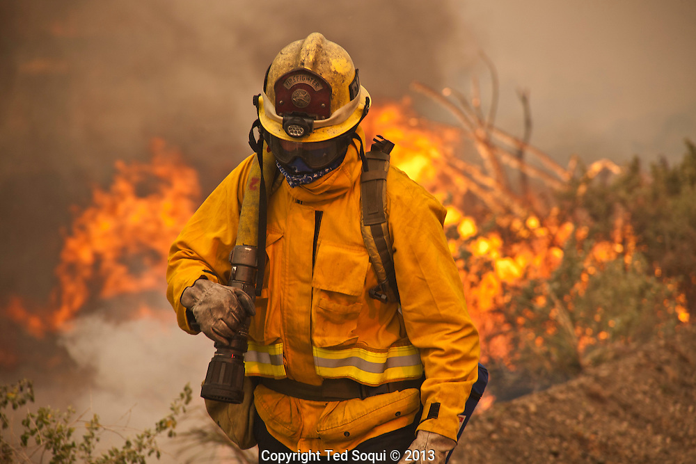 """""""Spring Fire"""" in Ventura County near Point Magu. The wind driven fire started in Newberry Park, CA and burned all the way to the Pacific Ocean..The Naval Station at Point Magu also burned."""