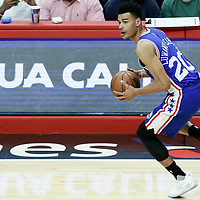 11 March 2017: Philadelphia 76ers guard Timothe Luwawu-Cabarrot (20) brings the ball up court during the LA Clippers 112-100 victory over the Philadelphia Sixers, at the Staples Center, Los Angeles, California, USA.