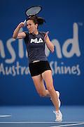 Brisbane, Australia, December 30: Jelena Jankovic of Serbia plays a forehand shot during a training session at Pat Rafter Arena ahead of the 2012 Brisbane International Tennis Tournament in Brisbane, Australia on Friday December 30th, 2011. (Photo: Matt Roberts/Photo News)
