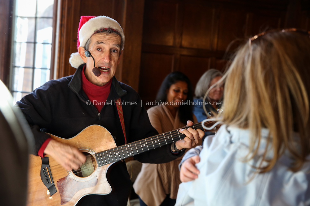 (12/1/18, SOUTHBOROUGH, MA) Mister Vic performs  during the 41st annual Santa Day at the Community House in Southborough on Saturday. [Daily News and Wicked Local Photo/Dan Holmes]