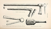 selection of various Viking Battle Axes from the book '  The viking age: the early history, manners, and customs of the ancestors of the English speaking nations ' by Du Chaillu, (Paul Belloni), 1835-1903 Publication date 1889 by C. Scribner's sons in New York,