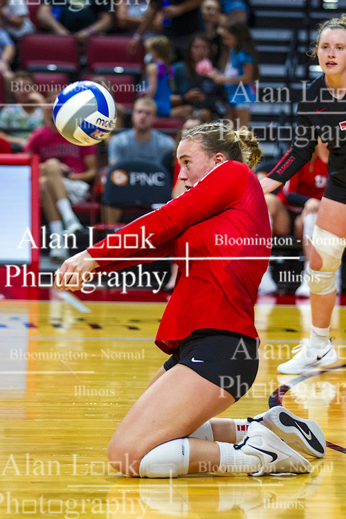 BLOOMINGTON, IL - September 14:  Sarah Kushner during a college Women's volleyball match between the ISU Redbirds and the University of Central Florida (UCF) Knights on September 14 2019 at Illinois State University in Normal, IL. (Photo by Alan Look)