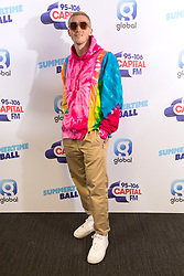Lauv on the red carpet of the the media run during Capital's Summertime Ball. The world's biggest stars perform live for 80,000 Capital listeners at Wembley Stadium at the UK's biggest summer party.