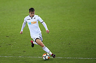 Tom Carroll of Swansea city in action. The Emirates FA Cup, 3rd round replay match, Swansea city v Wolverhampton Wanderers at the Liberty Stadium in Swansea, South Wales on Wednesday 17th January 2018.<br /> pic by  Andrew Orchard, Andrew Orchard sports photography.