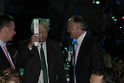Boris Johnson and Michael Howard, The 7th GQ Man of the Year Awards, Royal Opera House. 7 September 2004. In association with Armani Mania. SUPPLIED FOR ONE-TIME USE ONLY-DO NOT ARCHIVE. © Copyright Photograph by Dafydd Jones 66 Stockwell Park Rd. London SW9 0DA Tel 020 7733 0108 www.dafjones.com