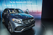 New York, NY - 1 April 2015. The Mercedes-Benz AMG GLE 63 crossover coupe made its debut at the New York International Auto Show.