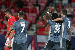 September 19, 2018 - Lisbon, Portugal - Bayern Munich's midfielder Renato Sanches from Portugal  (35) celebrates with teammates after scoring during the UEFA Champions League Group E football match SL Benfica vs Bayern Munich at the Luz stadium in Lisbon, Portugal on September 19, 2018. (Credit Image: © Pedro Fiuza/NurPhoto/ZUMA Press)