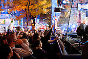 New York, New York. United States. November 2nd 2004..Presidential Election night at Rockefeller Center.