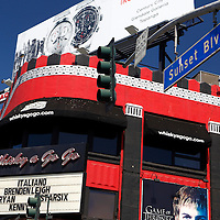 USA, California, Los Angeles. The legendary Whiskey a Go Go club and concert venue in West Hollywood.