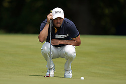 August 12, 2018 - St. Louis, Missouri, United States - Martin Kaymer lines up a putt on the 9th green during the final round of the 100th PGA Championship at Bellerive Country Club. (Credit Image: © Debby Wong via ZUMA Wire)