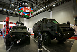 September 27, 2016 - Baku, Azerbaijan - The second International Defense Industry Exhibition ADEX-2016 opened in Baku. More than 20 countries present their military products at the exhibition. The biggest exposure is from Russia. Its enterprises present dozens of weapons and equipment. Azerbaijan presents 250 types of weapons and military equipment. Interesting developments are presented by Israel, Pakistan, Belarus, Ukraine and other countries. (Credit Image: © Aziz Karimov/Pacific Press via ZUMA Wire)