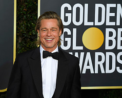 January 5, 2020, Beverly Hills, California, USA: BRAD PITT during red carpet arrivals for the 77th Annual Golden Globe Awards, at The Beverly Hilton Hotel. (Credit Image: © Kevin Sullivan via ZUMA Wire)