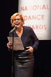 © Licensed to London News Pictures. 26/01/2015. London, England. Darcey Bussell with reading glasses. The Critic's Circle National Dance Awards 2014 take place at The Place in London, UK. Photo credit: Bettina Strenske/LNP