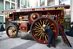 RESULTS: Sold for £911,000.00<br /> +++++++++++++++++++++++++++++++++++++<br /> <br /> <br /> Bonhams Golden Age of Motoring Sale '1886 to 1939' at Haunch of Venison Yard, Mayfair, London, Great Britain<br /> 28th October 2020<br /> <br /> The sale itself will take place at 5pm on 30 October at the Bonhams New Bond Street Saleroom. The sale showcases the finest and rarest veteran, vintage and post-vintage vehicles<br /> <br /> Firing up and running on steam of 'The Lion', a 1932 Fowler 'B6' Super Lion, estimate £800,000 – 1,200,000 one of just four showmans road locomotives built by agricultural engineers Fowler for the West Country Showman Troupe Alderton and Rowland. The Lion powered the popular fairground ride of the period, the 'Super Noah's Ark'.<br /> <br /> <br /> Photograph by Elliott Franks