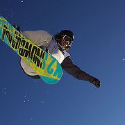 Mason Aguirre, USA, in action during the Men's Half Pipe Finals at the Burton New Zealand Open 2011 held at Cardrona Alpine Resort, Wanaka, New Zealand, 13th August 2011. Photo Tim Clayton