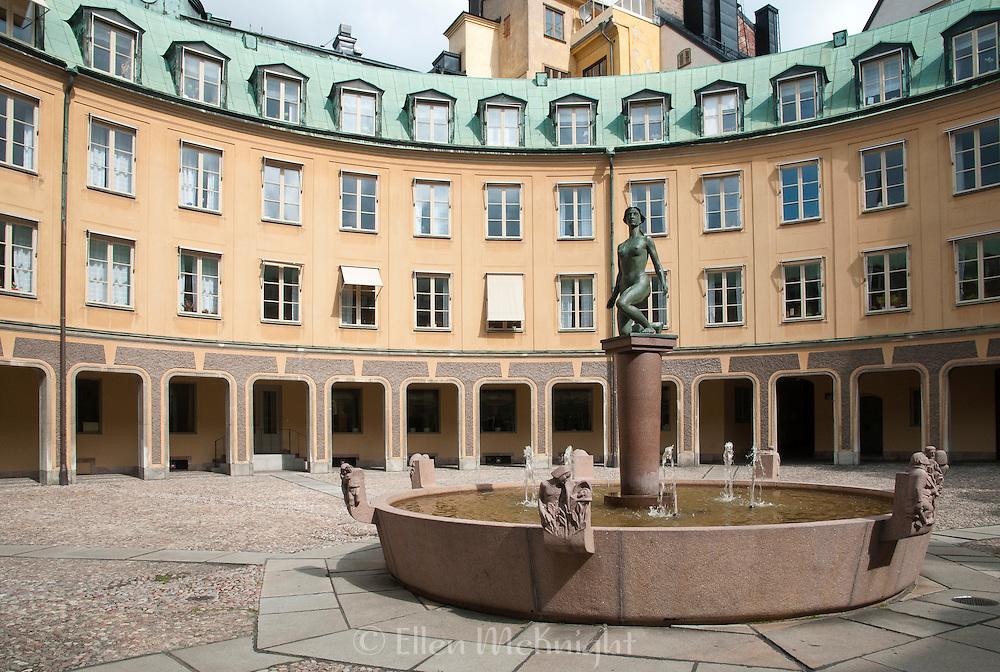 "Brantingtorget ""Square of Branting"" courtyard in Gamla Stan, Stockholm, Sweden"